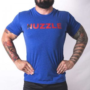 Bullywear Nuzzle Short Sleeved T Shirt Blue NUZ2