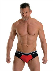 Mister B Urban Soho Jock Brief Jock Strap Underwear Red/Black 820330