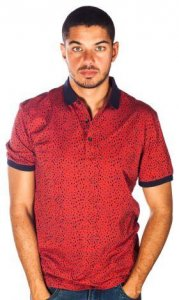 Barabas Astro Polo Short Sleeved Shirt Red