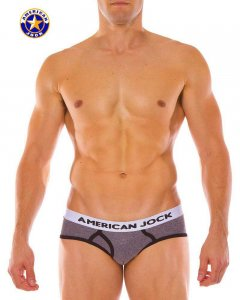 Go Softwear A J Olympic Brief Underwear Charcoal 8781