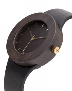 Analog Watch Leather & Blackwood / Hour Markings Watch UPL
