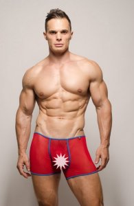 Pride Gossamer Trunk Underwear Red PRU-077