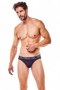 Henderson [2 Pack] Faze 36266-90X Slip Brief Underwear Black & Grey