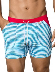 Clever Contemporary Square Cut Trunk Swimwear Blue 0659