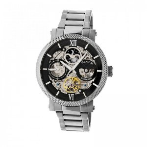 Heritor Automatic Aries Skeleton Dial Bracelet Watch - Silve...
