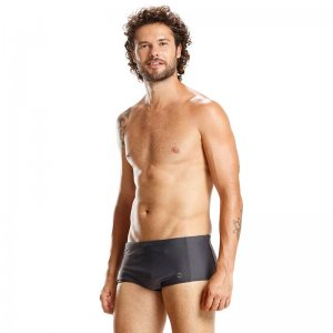 Mar Rio Built In Pocket Sunga Square Cut Trunk Swimwear Grey...