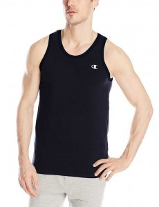 Champion Athletic Cotton Jersey Tank Top T Shirt Navy T8271