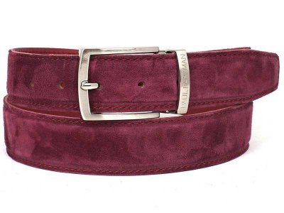 Paul Parkman Belt Purple Suede B06-PURP