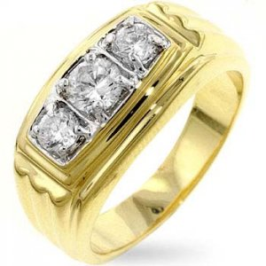 J Goodin CZ Men's Ring R07397T-C01