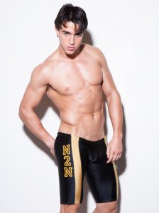 N2N Bodywear University Jammer Shorts Swimwear Black/Gold C8