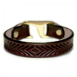 American Bench Craft Heat Embossed Herringbone Bracelet