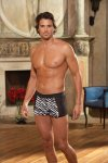 Dreamguy Black Zebra Print Satin Boxer Brief Underwear 5651