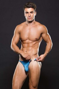 Envy Microfiber Magnetic Thong Underwear Blue E042