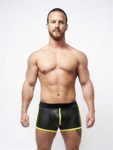 Mister B Neoprene Pouch Shorts Black/Yellow 340320