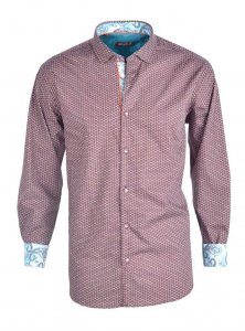 Spazio Rajit Long Sleeved Shirt Brown 20-S-1713