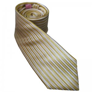Distino Of Melbourne Euro Gold Slim Nude Silk Necktie NS8