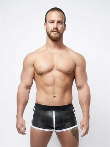 Mister B Neoprene Full Zip Shorts Black/White 340444