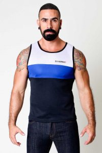 CellBlock 13 Back Alley Tank Top T Shirt Blue CBS020