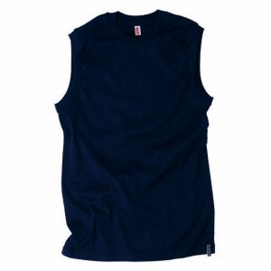 Minerva Micro Cotton Vest Muscle Top T Shirt Navy 11030
