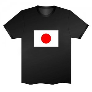 LED Electro Luminescence Flag Of Japan Funny Gadgets Rave Party Disco Light T Shirt Black 31800