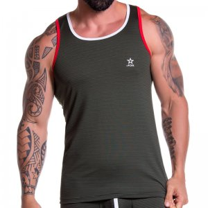 2d9bee7cd9a847 Barcode Berlin Bear Muscle Large Armhole Tank Top T Shirt Green ...