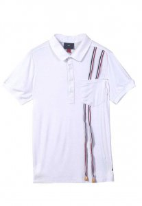Spy Henry Lau Chic Special Stripe Polo Short Sleeved Shirt W...