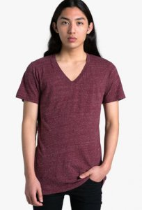 AS Colour Nice V Neck Short Sleeved T Shirt 5019