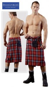 Svenjoyment Knee Length Tartan Plaid Kilt Costumes 2140004