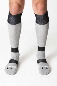 CellBlock 13 Roll Over Knee High Socks Grey A040