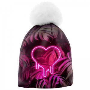 Mr. Gugu & Miss Go Melt My Heart Unisex Pom-Pom Beanie WB126...