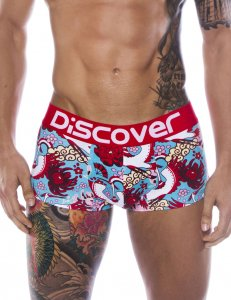 Discover Osaka Trunk Boxer Brief Underwear Red 90736