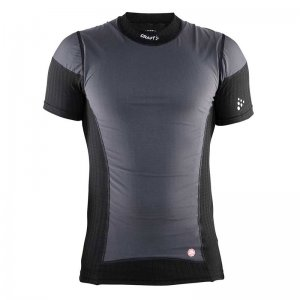 Craft Active Extreme Wind Stopper Short Sleeved T Shirt Black/Platinum 193892