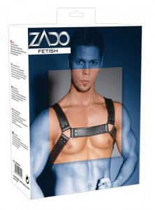 Zado Split Leather Chest Adjustable Harness Black 2010003