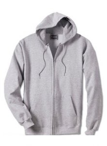 Hanes Ultimate Cotton Full Zip Fleece Hood Long Sleeved Swea...