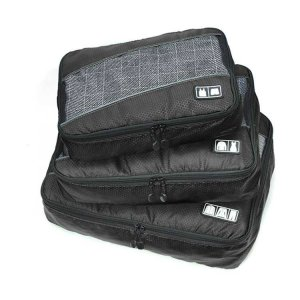 Edge Travel [3 Pack] Packing Cubes Bag Black
