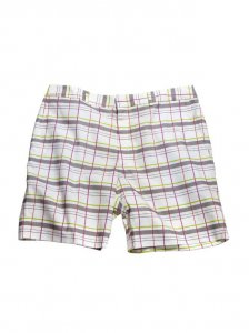 Breese Plaid Shorts White WHTPLD100