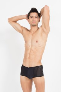 Lookme Agent Double 2 Mini Pants Boxer Brief Underwear Black 40-68