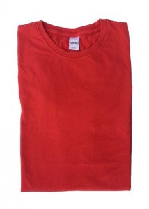 Ajaxx63 Athletic Fit Barefront Short Sleeved T Shirt Bright True Red BAS19