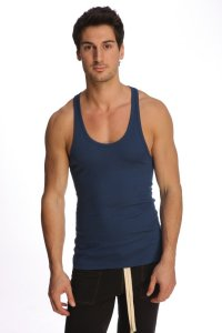 4-rth Racer Back Yoga Tank Top T Shirt Royal Blue