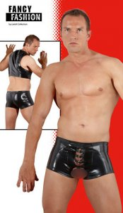 Fancy Fashion Open Strapped Front Boxer Brief Underwear Black 2910225-1700