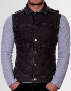 Kear&Ku Hooded Gilet Sweater Black