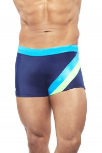 Narciso Square Cut Trunk Swimwear MIAMI BEACH NAVY BLUE/TURQUOISE