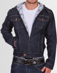Kear&Ku Denim Hooded Logo Lining Jacket