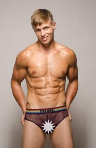 Pride Barcelona Mesh Brief Underwear Purple PRU-058