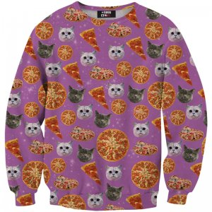 Mr. Gugu & Miss Go Pizzacat Unisex Sweater S-PC481
