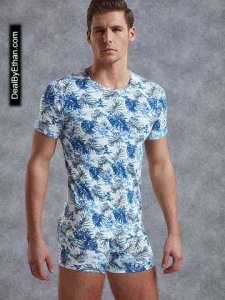 Doreanse Bora Bora Short Sleeved T Shirt Blue/White 2540