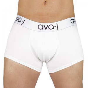 Ava-j Solid Boxer Brief Underwear Snow White