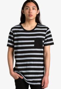 AS Colour 2-Tone Stripe Pocket Short Sleeved T Shirt 5018
