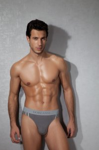Doreanse Athletic Contrast Slip Brief Underwear Smoke 1221