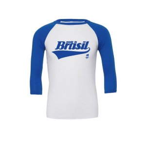 CA-RIO-CA Made In Brasil Raglan Long Sleeved T Shirt Blue/Wh...